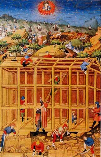 Carpentieri al lavoro.